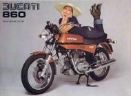 Ducati 860 sales brochure