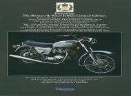 Triumph Bonneville Silver Jubilee Limited Edition sales brochure