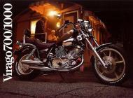 Yamaha Virago 700-1000 sales brochure