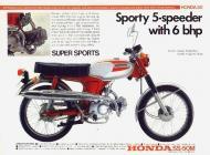 Honda SS-50M Sales Brochure