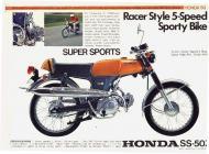 Honda SS50 Super Sports Sales Brochure