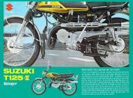 1970 Suzuki T125 Stinger Sales Brochure