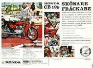 Honda CB125 K5 Sweden Sales Brochure