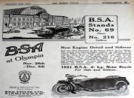 1921 BSA Advert