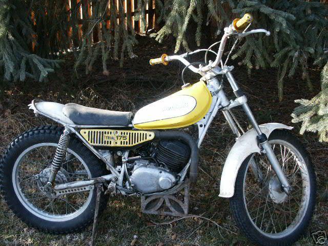 yamaha ty125 classic motorbikes. Black Bedroom Furniture Sets. Home Design Ideas