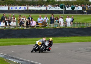 Last corner lunge as Jeremy McWilliams braves it around the outside through the chicane