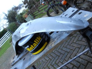 On top the front mudguard is ok, nothing Isopon's Metalik filler can't rectify
