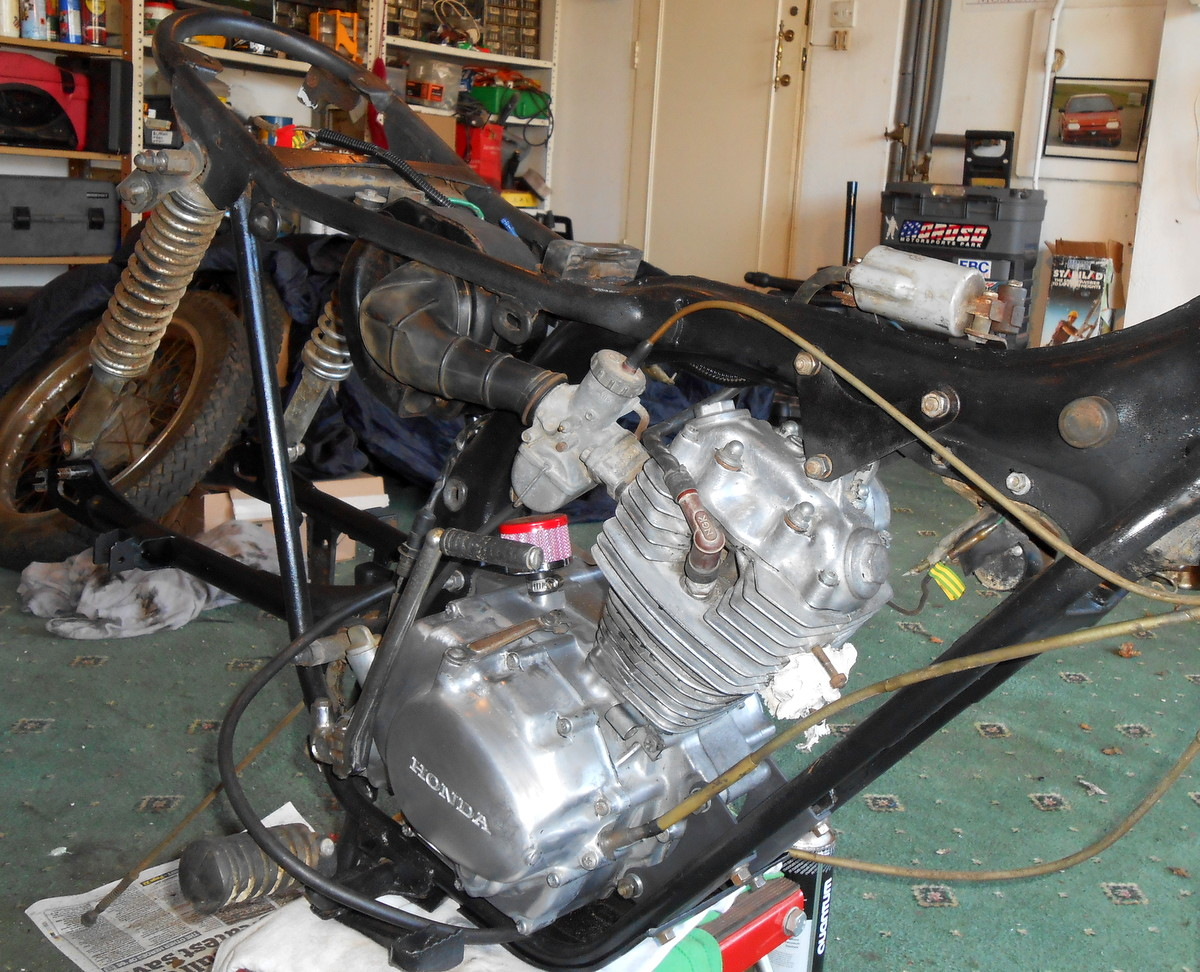 Once years of corrosion and factory black paint were removed the motor looked great