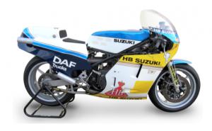 Barry Sheene, Mick Grant, Heron Suzuki, 1983 Suzuki RGB500 Mark 8 Racing Motorcycle