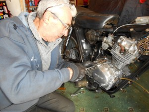 Alan was dead-chuffed to begin stripping the clutch out when it was road test day