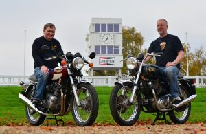 Richard and John - proud Commando and Trident owners