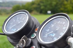 The Norton's clocks look classy with no clutter but 150mph speedo, that's ambitious