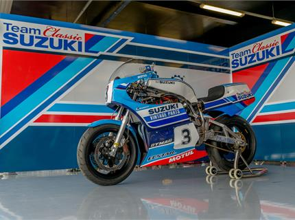 Classic Suzuki at the Isle of Man TT