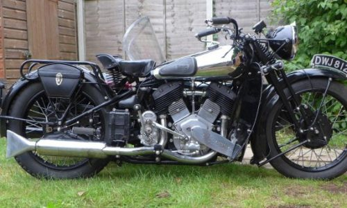 1937 Brough Superior 1,096cc 11-50hp Motorcycle Combination Frame