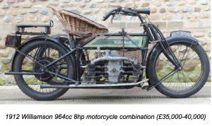 1912 Williamson 964cc 8hp classic bike
