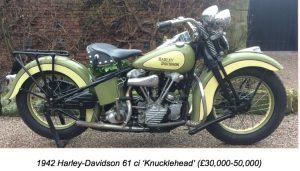 1942 Harley Davidson 61 ci Knucklehead