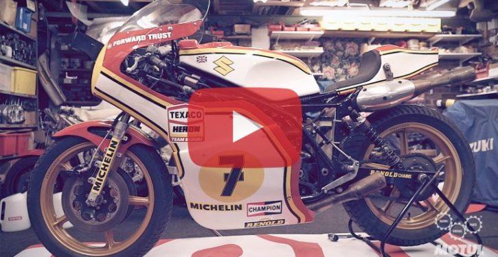 Suzuki restores Barry Sheene 1976 world championship-winning XR14