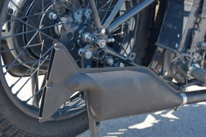 Fishtail exhaust minus the chrome was chosen by the Wehrmacht finished in matt black