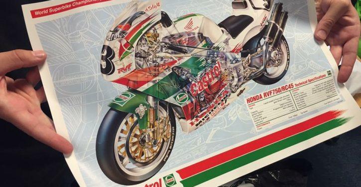 Honda RVF750 poster