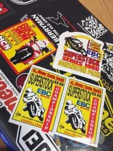 motor cycle news stickers