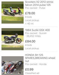 motorbike classified ads