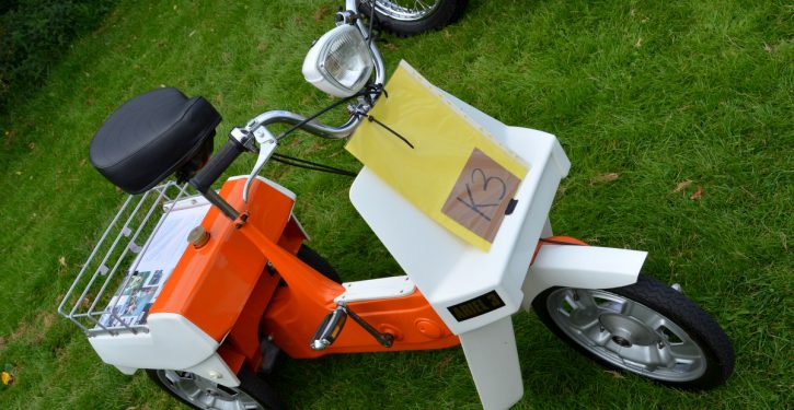 Finished in Sunburst Orange this Ariel 3 has been superbly restored by an owner who appreciates something different