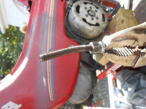 The only non-factory engine bolt, bent like banana and fought for an hour