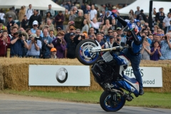 Mattie Griffin once again wowed the Goodwood faithful with gravity defying display