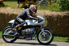 Maria Costello shared the BMW Kaczor R 50s from 1966 with Troy Corser