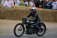 Ian Bain pilots his Brough Superior KTOR from 1924, the motor being the earliest surviving of the Brooklands racers
