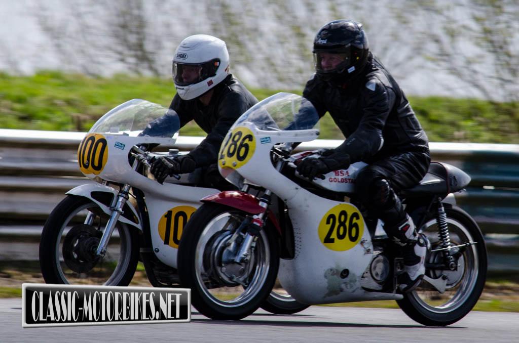 James Fixter - 1956 BSA Goldstar 500 & Andy Hunt - 1972 Ducati Steelcraft 450