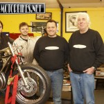 The motorcycle restoration team