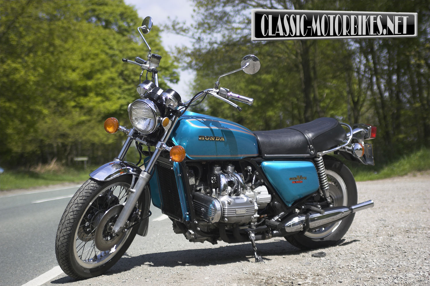 Honda Gl1000 Goldwing Road Test Classic Motorbikes 1970 Silver Wing Motorcycles Riding With Wings