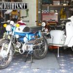 Suzuki 50 and Lambretta SX150