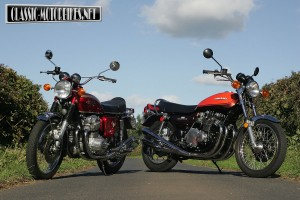 Honda CB750 V Kawasaki Z1 Test