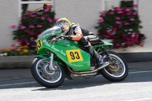 Maria enjoying the Peter Beugger Paton in the 500 Classic TT - by Cheryl Chapman