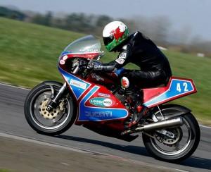 Team Member Classic Bike Racer Alex Sinclair - from Rhondda now living in Swindon
