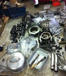 Ducati 750 Sport engine