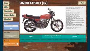 SUZUKI GT250 X7 ADDED TO VINTAGE PARTS PROGRAMME