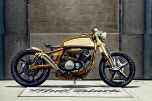 Matt Black Custom Designs Yamaha XV950 Playa del Rey