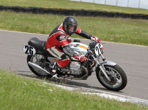 Paul Mollet made the long trip from Jersey with Nick Carters Moto Guzzi Le Mans - and took home trophies on both days