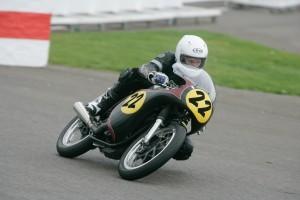 Michael Rutter races this Manx Norton