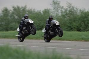 Trevor Nation and Steve Spray on the Norton F1 600