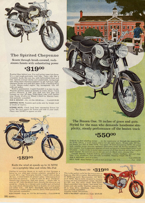Allstate Motorcycle Insurance >> Sears Brochures and Adverts - Classic Motorbikes