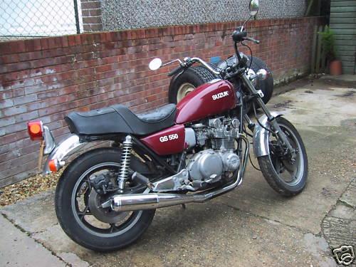 on 1982 Suzuki Gs550e