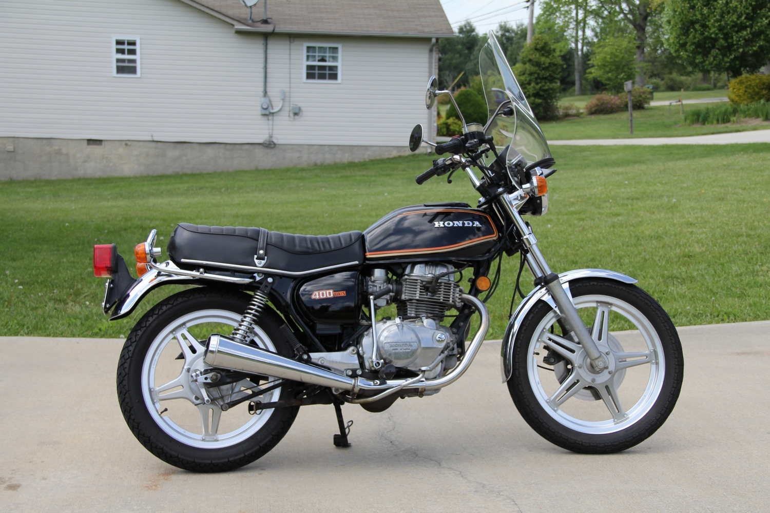 The designation CB400 has applied to ten verification needed Honda motorcycle families CB400F 1975 through 1977 408 cc 249 cu in SOHC inline four 6speed