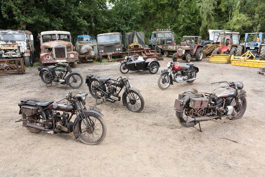 John Keeley Collection Of 45 Barn Find Motorcycles
