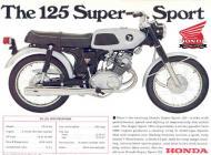 Honda 125 Super Sport Brochure