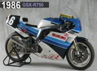 1986 Suzuki GSX-R750 Racing Bike