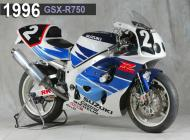 1996 Suzuki GSX-R750 Racing Bike